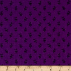 Andover Over The Rainbow Sprigs Purple Fabric