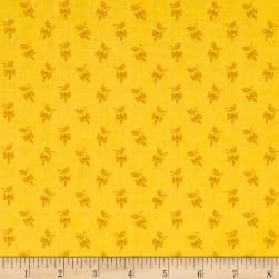 Andover Over The Rainbow Sprigs Yellow Fabric