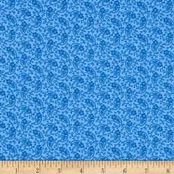 Andover Over The Rainbow Paislies Blue Fabric