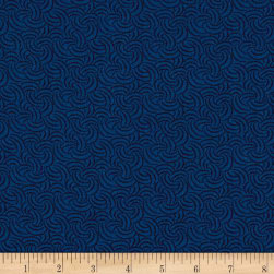 Andover Over The Rainbow Interlock Blue Fabric