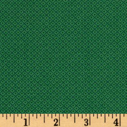 Andover Over The Rainbow Diamonds Green Fabric