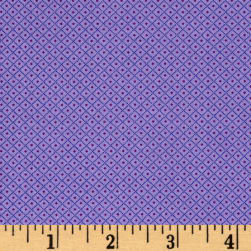 Andover Over The Rainbow Diamonds Purple Fabric
