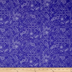 Alison Glass Sun Prints Overgrown Sapphire Blue Fabric