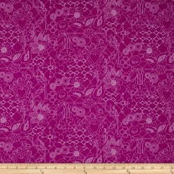 Alison Glass Sun Prints Overgrown Plum Purple Fabric