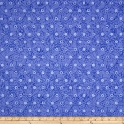 Alison Glass Sun Prints Link Hydrangea Blue Fabric