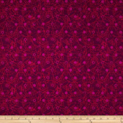 Alison Glass Sun Prints Link Raisin Red Fabric
