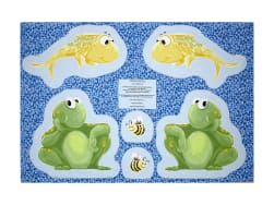 Susybee Paul & Sheldon Cut-Out Toys 35'' Panel Blue Fabric