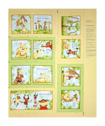 Susybee Buddies Storybook 36'' Panel Green Fabric