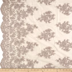 Telio Francoise Mesh Lace Embroidered Lace Mushroom Fabric