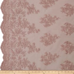 Telio Francoise Mesh Lace Embroidered Lace Whisper Pink
