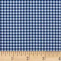Mixology Gingham Indigo Fabric