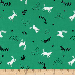 Skogen Horse Toss Green Fabric