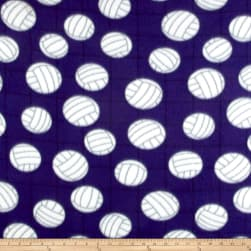 Polar Fleece Volleyball Purple Fabric