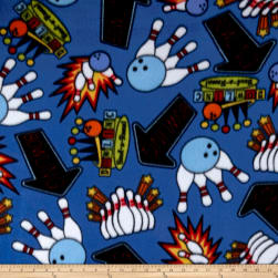 Polar Fleece Bowling Blue Fabric