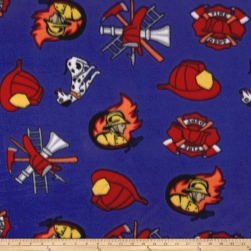 Polar Fleece Fire Fighter  Royal Fabric