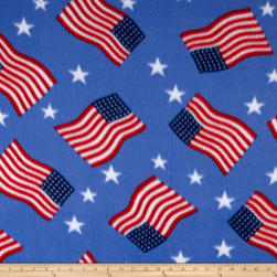 Polar Fleece Flag Blue Fabric