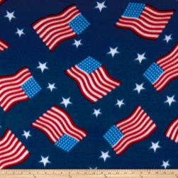 Polar Fleece Flag Royal Fabric