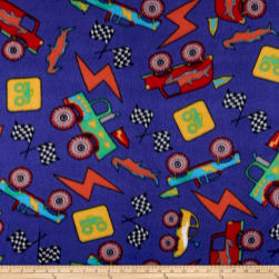Polar Fleece Monster Trucks Royal Fabric