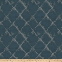 Fabricut Aerial Diamond Faux Silk Cadet Fabric