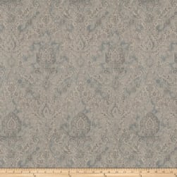 Fabricut Movies Damask Linen Platinum Fabric
