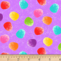 Tutti Fruitti Plisse Gumdrops Tossed Lilac Fabric