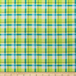 Game On Plaid Lime Fabric