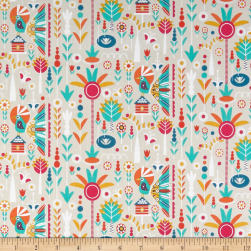 Birds of Pardise Jungle Tan Fabric