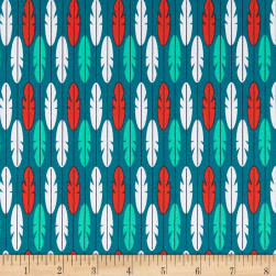 Birds of Pardise Feather Turquoise