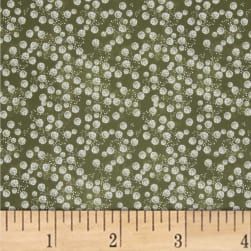 Mulberry Bloom Tuft Digital Sage Fabric
