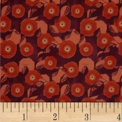 Mulberry Bloom Poppy Digital Red Fabric