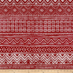 Covington Wethersfield Jacquard Red Fabric