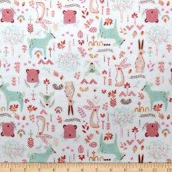 Nursery Program Flannel Forest Friends Peony Fabric