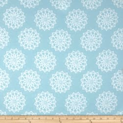 Mandala Flannel Blue Fabric