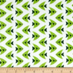 Camelot Flannel Fish Green Fabric