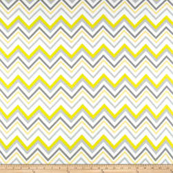 Flannel Chevron & On Yellow/White Fabric