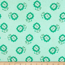 Flannel Lion Aqua Fabric