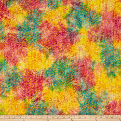 Island Batik Pressed Petals Bubble Hole Tourmaline Fabric