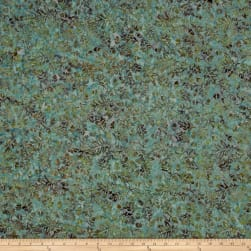 Island Batik Mountain's Majesty Acorn Medium Lagoon Fabric