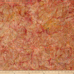 Island Batik Autumn's Grace Dot Paprika Fabric