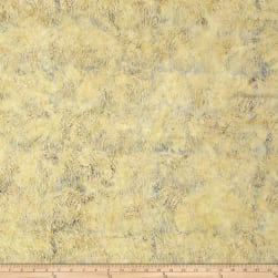 Island Batik Autumn's Grace Grass Custard Fabric