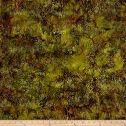 Island Batik Autumn's Grace Grass Grasshopper Fabric
