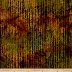 Island Batik Autumn's Grace Branches Burnished Copper Fabric