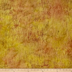 Island Batik Autumn's Grace Bark Spicy Mustard Fabric