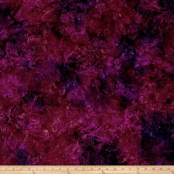 Island Batik Autumn's Grace Pinecone Plum Fabric