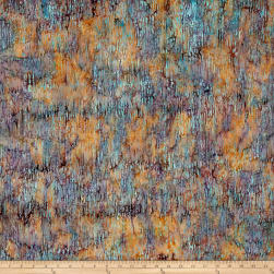 Island Batik Autumn's Grace Dash Pond Moss Fabric
