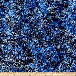 Island Batik Blue Moon Pinecone Ocean Fabric