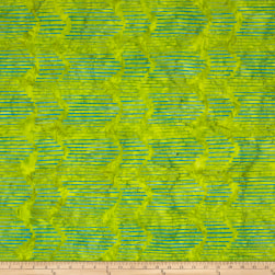 Island Batik Elementz Windz Lime Fabric