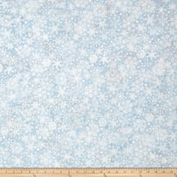 Island Batik Mountain's Majesty Snowflake Pewter Fabric