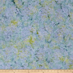 Island Batik Mountain's Majesty Columbine Aqua Fabric