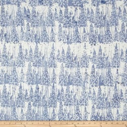 Island Batik Mountain's Majesty Snow Trees French Blue